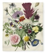 Bouquet Of Flowers, Anonymous, 1680 Fleece Blanket