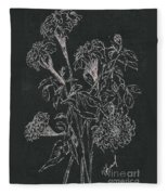 Bouquet Of Flowers  Fleece Blanket