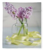 Bouquet Of Hyacinth Fleece Blanket