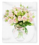 Garden Roses  Fleece Blanket