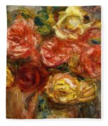 Bouquet Of Roses In A Vase 1900 Fleece Blanket