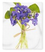 Bouquet Of Violets Fleece Blanket