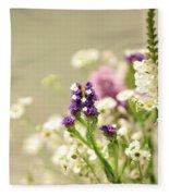 Bouquet Of Wildflowers Fleece Blanket