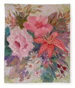 Bouquet Fleece Blanket