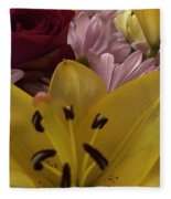 Bouquet Of Beauty Fleece Blanket