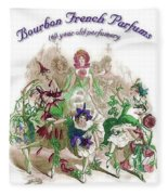 Bourbon French Perfume Fleece Blanket