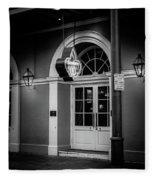 Bourbon O Bar In Black And White Fleece Blanket
