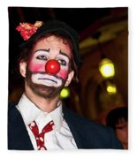 Bourbon Street Clown Mime Fleece Blanket