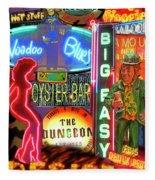 Bourbon Street Neon Fleece Blanket