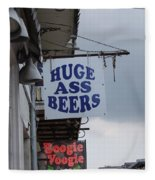 Bourbon Street Signs Fleece Blanket