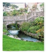 Bournemouth Lower Gardens Fleece Blanket