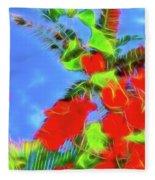 Bougainvillea Glow Fleece Blanket