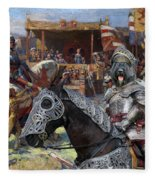 Bouvier Des Flandres - Flandres Cattle Dog Art Canvas Print - Knights Tournir Fleece Blanket