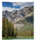 Bow River Banff Alberta Fleece Blanket