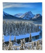 Bow River Valley View Fleece Blanket