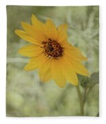 Bowing To The Sun Fleece Blanket