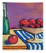 Bowl Of Apples Fleece Blanket