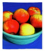 Bowl Of Apples Fleece Blanket