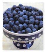 Bowl Of Blueberries Fleece Blanket
