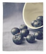 Bowl Of Blueberries Fleece Blanket