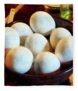 Bowl Of Eggs Fleece Blanket