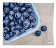Bowl Of Fresh Blueberries Fleece Blanket