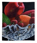 Bowl Of Fruit Fleece Blanket