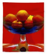 Bowl Of Fruit Fleece Blanket
