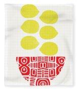 Bowl Of Lemons- Art By Linda Woods Fleece Blanket