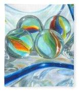 Bowl Of Marbles Fleece Blanket