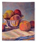 Bowl With Fruit Fleece Blanket