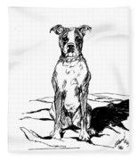 Boxer In The Dirt Fleece Blanket