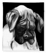 Boxer Puppy Fleece Blanket