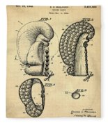 Boxing Glove Patent 1944 Fleece Blanket