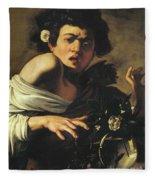Boy Bitten By A Lizard, 1596 To 97 Fleece Blanket