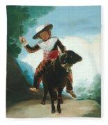 Boy On A Ram Fleece Blanket