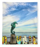 Boy On The Seahorse Fleece Blanket