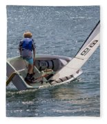 Boy Sailing Fleece Blanket