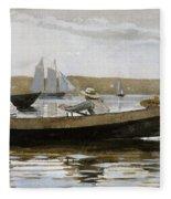 Boys In A Dory, By Winslow Homer, Fleece Blanket