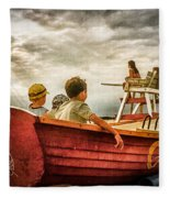 Boys Of Summer Cape May New Jersey Fleece Blanket