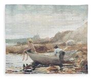 Boys On The Beach Fleece Blanket