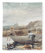 Boys On The Beach Fleece Blanket
