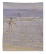 Boys Swimming Fleece Blanket
