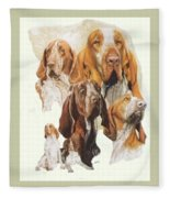 Bracco Italiano W/ghost Fleece Blanket