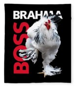 Brahma Boss T-shirt Print Fleece Blanket