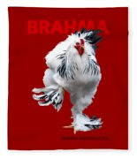 Brahma Breeders Rock Red Fleece Blanket