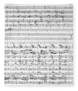 Brahms Manuscript Fleece Blanket