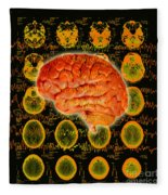 Brain Composite Fleece Blanket