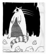Brains Brewing Noon Raccoon Design By Warwickart Fleece Blanket