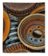 Brake Drums - Disc Brakes - Shock Assembly Fleece Blanket
